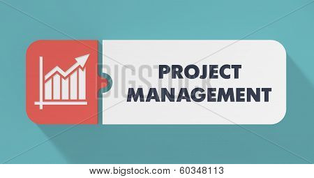 Project Management Concept in Flat Design.