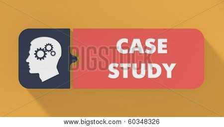 Case Study Concept in Flat Design.