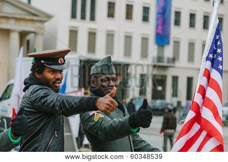 American And Soviet Military Claiming Their Rights
