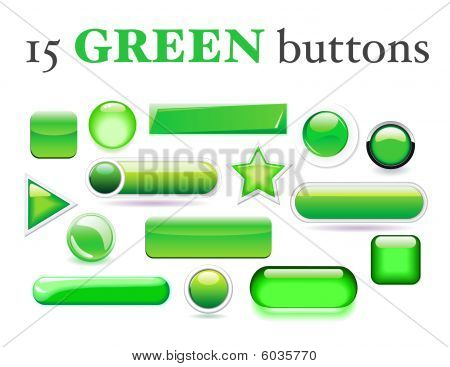 Green buttons collection