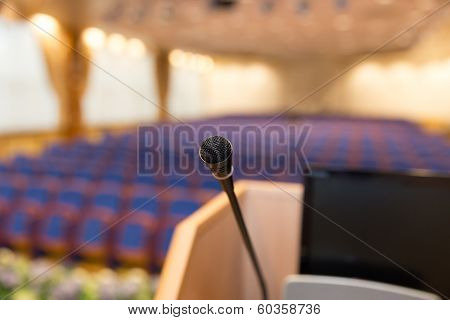 Rostrum In Conference Hall