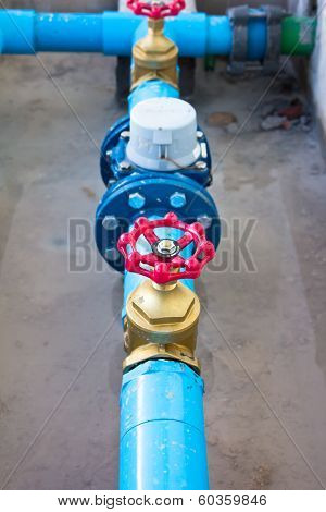 Red Water Valve.