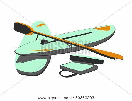 Isolated Water Sport Baords & Paddles