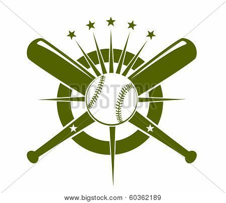 Baseball championship icon or emblem