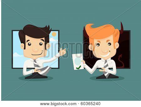 Businessman Internet Working Concept, Wireless Communication