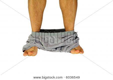 Underwear Around Ankles.