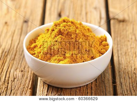 bowl of curry powder