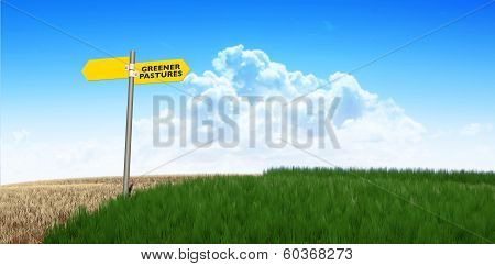 Green Pastures Sign
