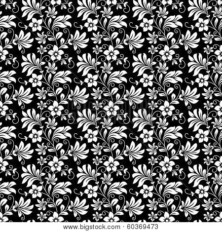 Beautiful intricate retro seamless floral pattern