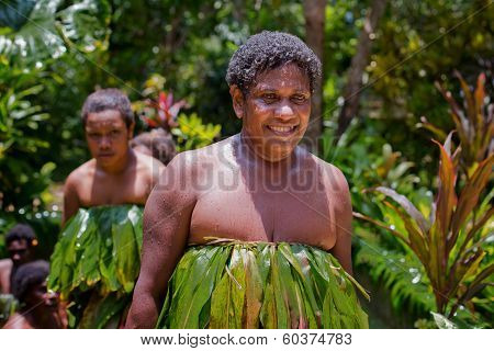 Melanesian women after water dance in Luganville, Vanuatu