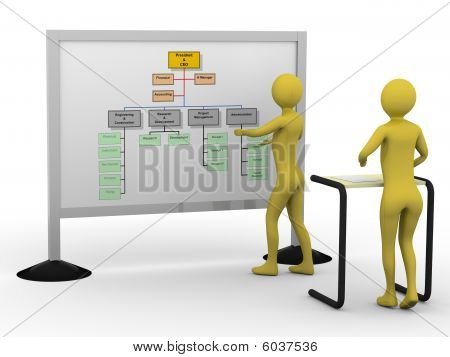 Businessman Presenting Diagram