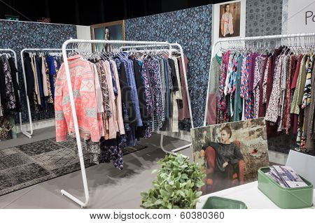 Dresses On Display At Mipap Trade Show In Milan, Italy