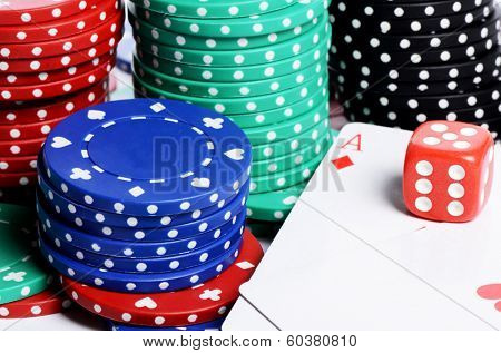 Double aces with big stack and dice