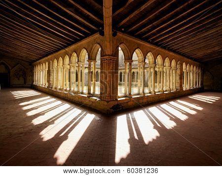 Cloister Shadows Saint Emilion Abbey Church France
