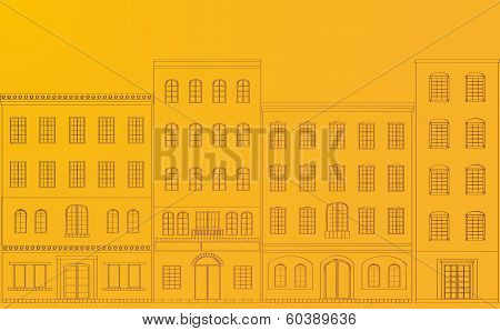 Residential area yellow