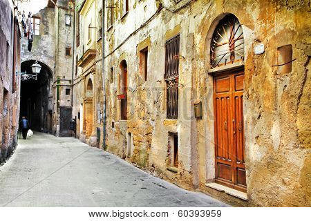 streets of old Tuscany, Italy