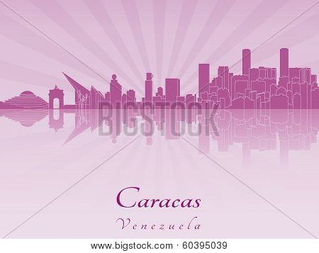 Caracas Skyline In Purple Radiant Orchid