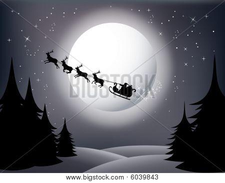 Santa`s sleigh Vector