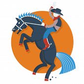 foto of bucking bronco  - Rodeo poster - JPG