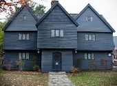picture of witch  - The Witch House is the only house standing in Salem from the time of the Salem witch trials - JPG