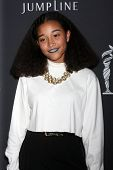 LOS ANGELES - FEB 22:  Amandla Stenberg at the 16th Annual Costume Designer Guild Awards at Beverly
