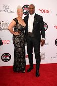 LOS ANGELES - FEB 22:  Rebecca Crews, Terry Crews at the 45th NAACP Image Awards Arrivals at Pasaden