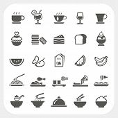 stock photo of chinese menu  - Food and Beverage icons set isolated on white background - JPG