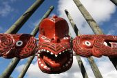 picture of maori  - Maori red carving  - JPG