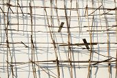 image of shaky  - Scaffolding of a building in Cambodia Asia - JPG
