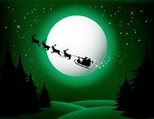 stock photo of santa sleigh  - Santa - JPG
