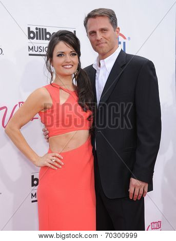 LAS VEGAS - MAY 18:  Danica McKellar & Mike Verta arrives to the Billboard Music Awards 2014  on May 18, 2014 in Las Vegas, NV.