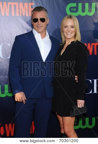 LOS ANGELES - JUL 17:  Matt LeBlanc & Melissa McKnight arrives to the CBS-CW-Showtime Summer TCA Press Tour 2014  on July7, 2014 in West Hollywood, CA.