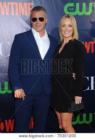 LOS ANGELES - JUL 17:  Matt LeBlanc & Melissa McKnight arrives to the CBS-CW-Showtime Summer TCA Press Tour 2014  on July7, 2014 in West Hollywood, CA.