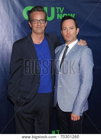 LOS ANGELES - JUL 17:  Mathew Perry & Thomas Lennon arrives to the CBS-CW-Showtime Summer TCA Press Tour 2014  on July7, 2014 in West Hollywood, CA.