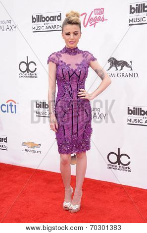LAS VEGAS - MAY 18:  Cher Lloyd arrives to the Billboard Music Awards 2014  on May 18, 2014 in Las Vegas, NV.
