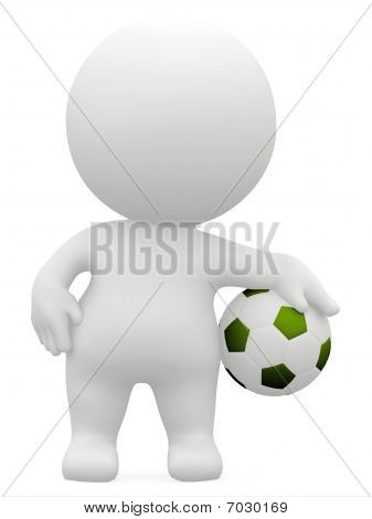3D Man With A Football