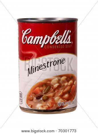Can Of Cambell's Minestrone Soup