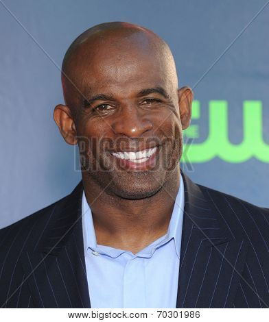 LOS ANGELES - JUL 17:  Deion Sanders arrives to the CBS-CW-Showtime Summer TCA Press Tour 2014  on July7, 2014 in West Hollywood, CA.