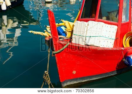 Fishing Boats In The Harbor - Liguria Italy
