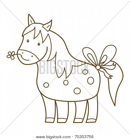 horse isolated on white (vector illustration)
