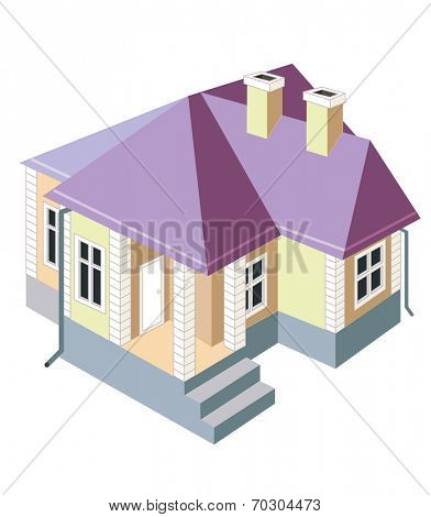 House isolated on white background (vector illustration)