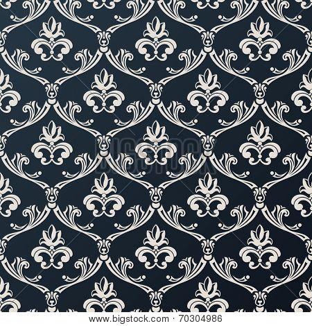 floral vintage wallpaper. Abstract background vector black design