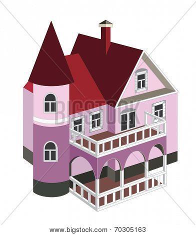 vintage house (vector illustration)