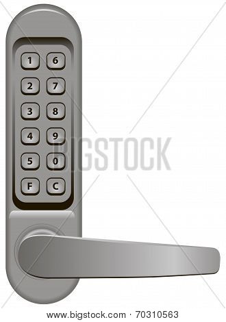 Door Handle With Combination Lock