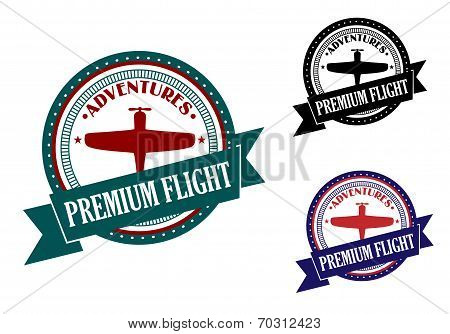 Premium flight adventures symbol
