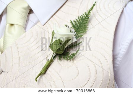 Groom with a flower buttonhole