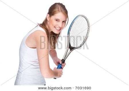 Woman With Tennis Racket