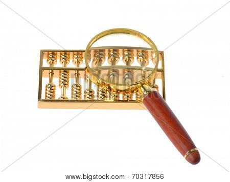 magnifier with abacus
