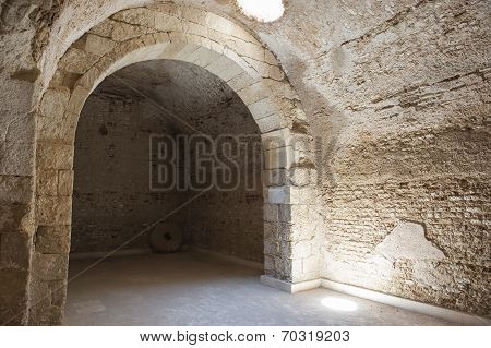 Interior Of Old Roman Cistern