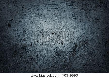 Closeup of blue textured wall